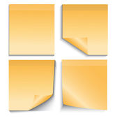 примечание желтый палку, изолированные на белом — Cтоковый вектор