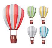 Hot air balloon set — Stock Vector