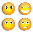 Smiley face set — Stock Vector #27184147