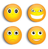 Smiley face set — Stock Vector