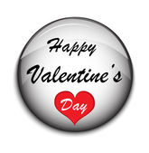 Valentine Button on white backgrounde — Stock Vector