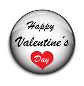 Valentine Button on white backgrounde — Stock vektor