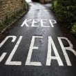 Keep Clear - Stock Photo