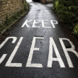 Keep Clear — Stock fotografie