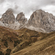 Pass of Sella Dolomites - Stock Photo