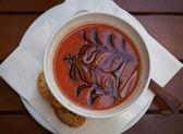 Spanish gazpacho soup — Stock Photo