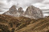 Pass of Sella Dolomites — Stock Photo