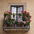 Stock Photo: Balcony with Geranium