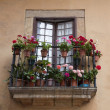 Balcony with Geranium — Stock Photo