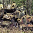 Heap of scrap cars — Stock Photo