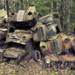 Stock Photo: Heap of scrap cars