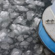 Stock Photo: Fishing boat in pack ice