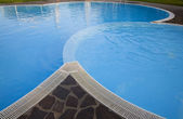 Matin au bord de la piscine — Photo