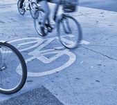 ラッシュアワーのサイクリスト — ストック写真