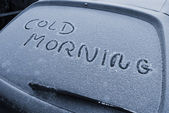 Cold morning Denmark — Stock Photo