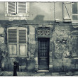 Grunge monochromatic image of a decaying buildings — Stok fotoğraf
