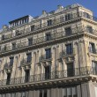 Stock Photo: Luxury condos seen from Champs-Elysees, Paris, France