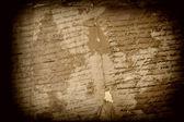Antique Spanish text — Stock Photo