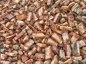 Red bricks from urban renewal. — Stock Photo