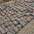 Stock Photo: Contructing with cobbles
