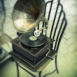 Antique gramophone — Stock Photo