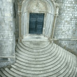 Church with circular steps - Stock Photo