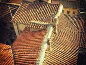 老瓦屋顶 — 图库照片