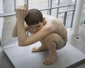 The sculpture Boy — Stock Photo
