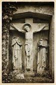 Vintage religious postcard — Stock Photo