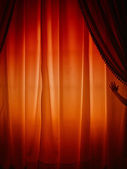 Behind the curtain — Stock Photo
