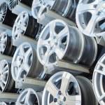 Various alloy wheels — Stock Photo #11132970