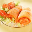 Norwegian salmon on a plate — Stock Photo