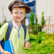 Young boy is going to school. — Stock Photo