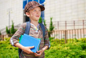 Young boy dreaming about school — Stock Photo