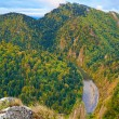Stock Photo: The Dunajec River Gorge. View from Sokolica Mountain.