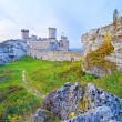 Old medieval castle on rocks. Ogrodzieniec, Poland. — Stock Photo