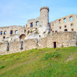 Stock Photo: Old medieval castle on rocks. Ogrodzieniec, Poland.