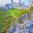 Stock Photo: Ruins of Old Medieval Castle on Rocks.