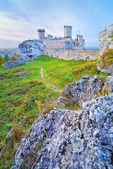 The Ruins of Old Medieval Castle on Rocks. — Stock Photo