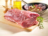 Raw Pork Shoulder Square Cut With The Bone — Stock Photo
