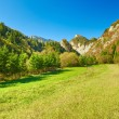 Sunny landscape in The Pieniny Mountains. Carpathians. — Stock Photo #48851061