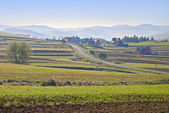 Rural landscape in The Pieniny Mountains. — Stock Photo
