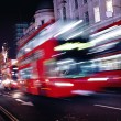 Red bus in London street — Stock Photo