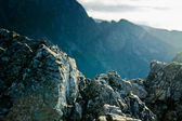 Mountain ladscape with rocks — Stock Photo