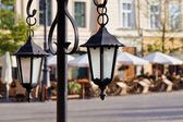 Town market cafe in Cracow — Stock Photo