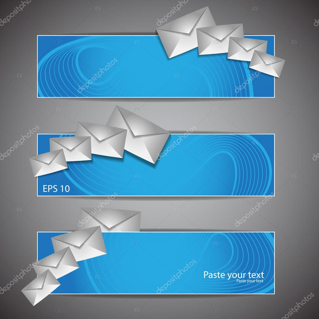 Email Icon With Blue Illustration of an email reception icon envelope with blue orbiting around, for contact us and feedback symbols  Stock Vector #13900873