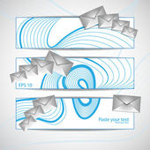 Email Icon With Blue Illustration of an email reception icon env — Stock Vector