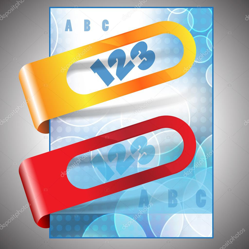 Abstract bubble vector flyer design with sticker — Stock Vector #14288165