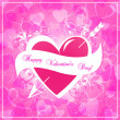 Valentine's day background heart — Vector de stock #19662709