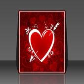 Valentine's day background heart flyer design — Stock Vector